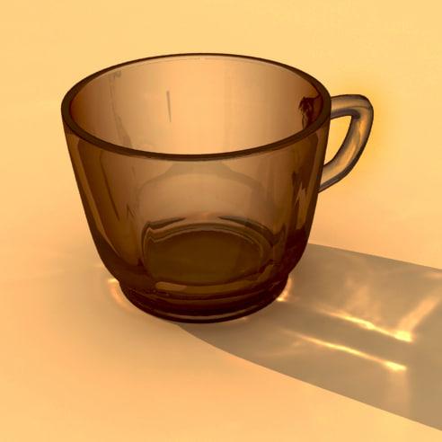 3d model glass duralex