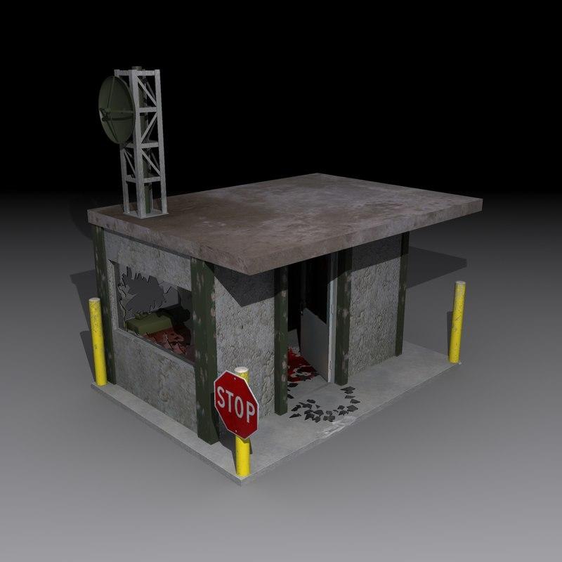 3d model area 51 guard shack