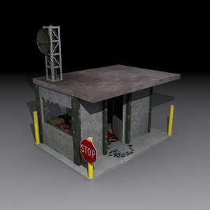 3d model area 51 guard shack