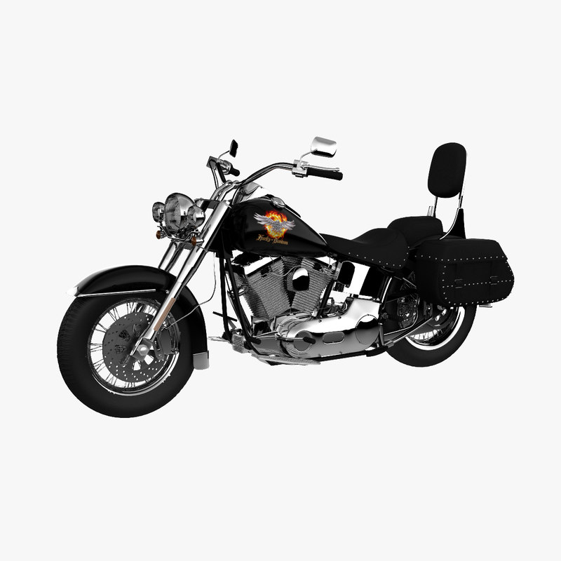 Harley Turbo Review: 3d Harley Davidson Softail Model