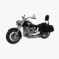 3d harley davidson softail model