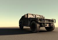 3d military humvee