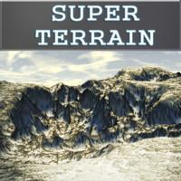 free snowy terrain landscapes 3d model