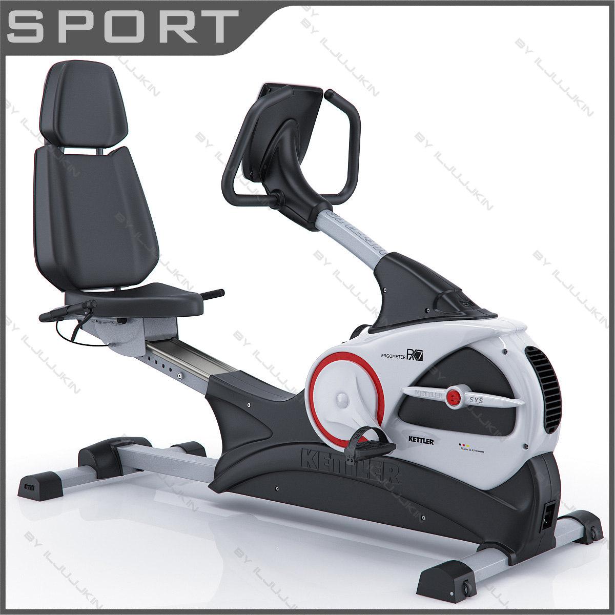 kettler rx7 recumbent exercise bike 3d model