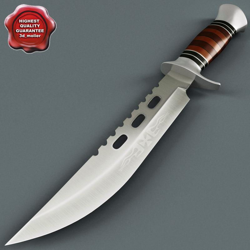 knife columbia v2 3d 3ds