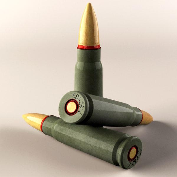3d model realistic cartridge
