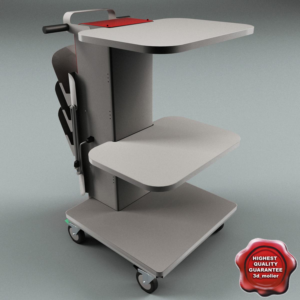 medical supply cart obj