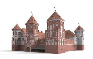 castle mir 3d model