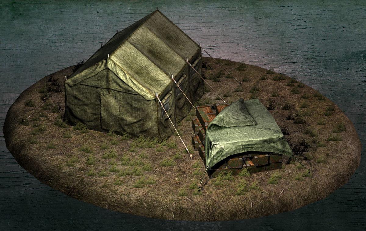 3d model box tent