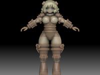free girl 3d model