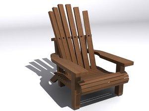 3ds max adirondack furniture