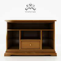 max photorealistic small tv cupboard