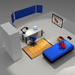 bedroom bed 3d max