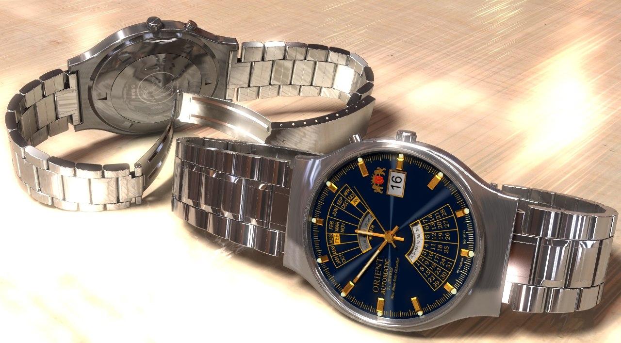Free orient watch 3d model for Orient mobel