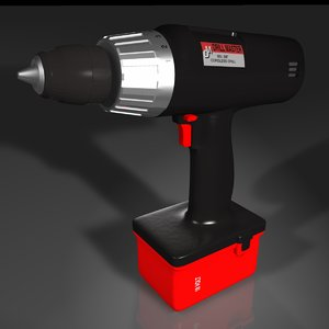 cordless drill 3d 3ds