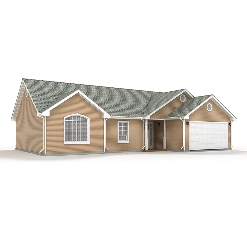 3d model cottage siding