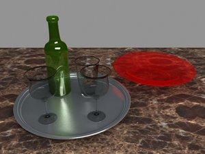 cups bottle 3d model