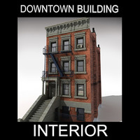 downtown building interior 3d max