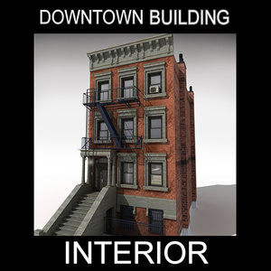 downtown building interior 3d max