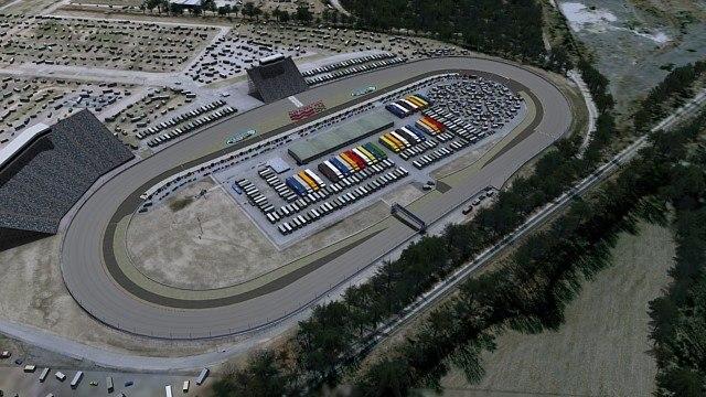 3d track oval race model