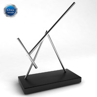 3d kinetic perpetual motion toys model for Kinetic desk sculpture