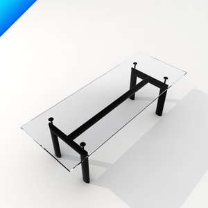 le corbusier lc6 dining table 3ds