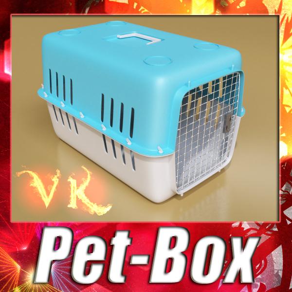 3d pet transport box - model