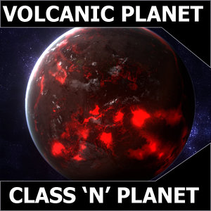 exoplanet planet earth class 3d model