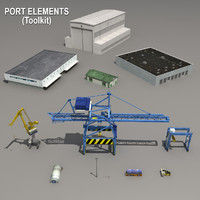 3d port elements toolkit cranes