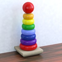 children toy rainbow stacker 3d max