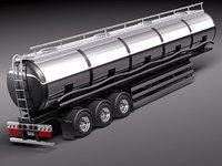 semi truck trailer tank 3d max
