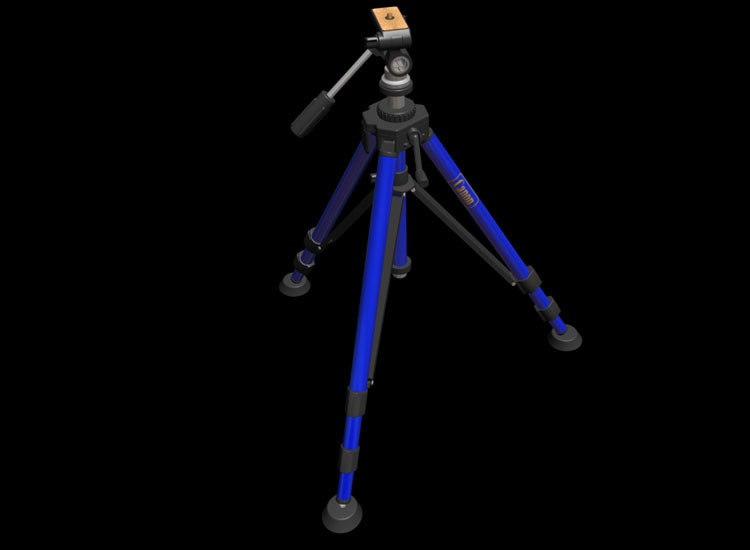 3d model of camera tripod