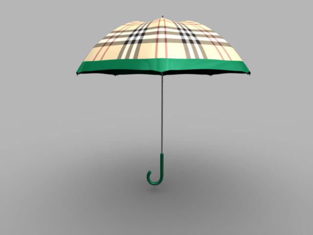 3dsmax burberry umbrella