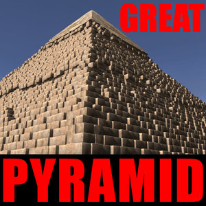 3d obj great pyramid