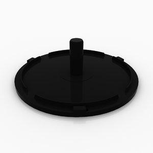 3d disc spindle media model
