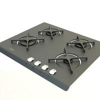 gas cooker 3d model