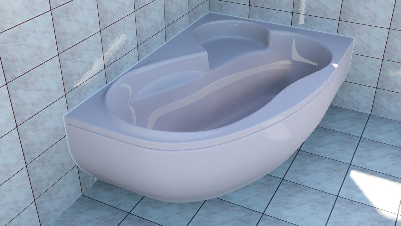 3ds max corner bathtub