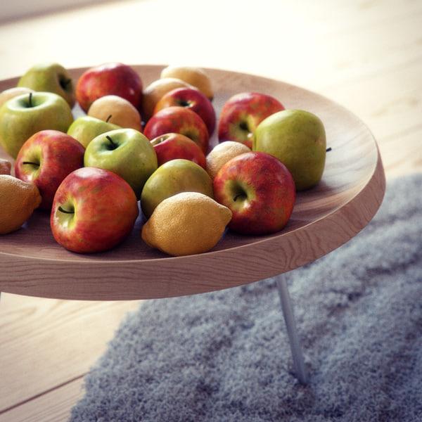 3d hans wegner fruit bowl model