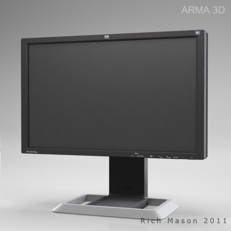hp lp2475w monitor 3d model