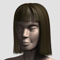 3dsmax hair character mesh