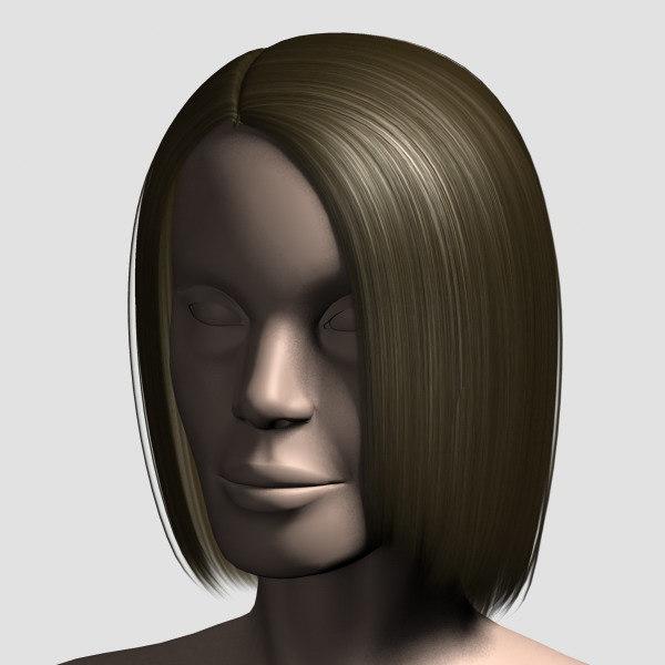 3d model hair character mesh