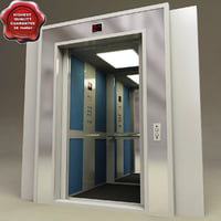 lift interior v1 doors 3d model