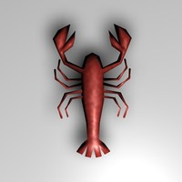 3d 3ds lobster scene