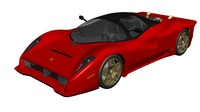 3d 3ds pininfarina modeled