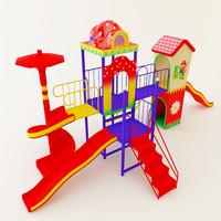 children slide 3d model