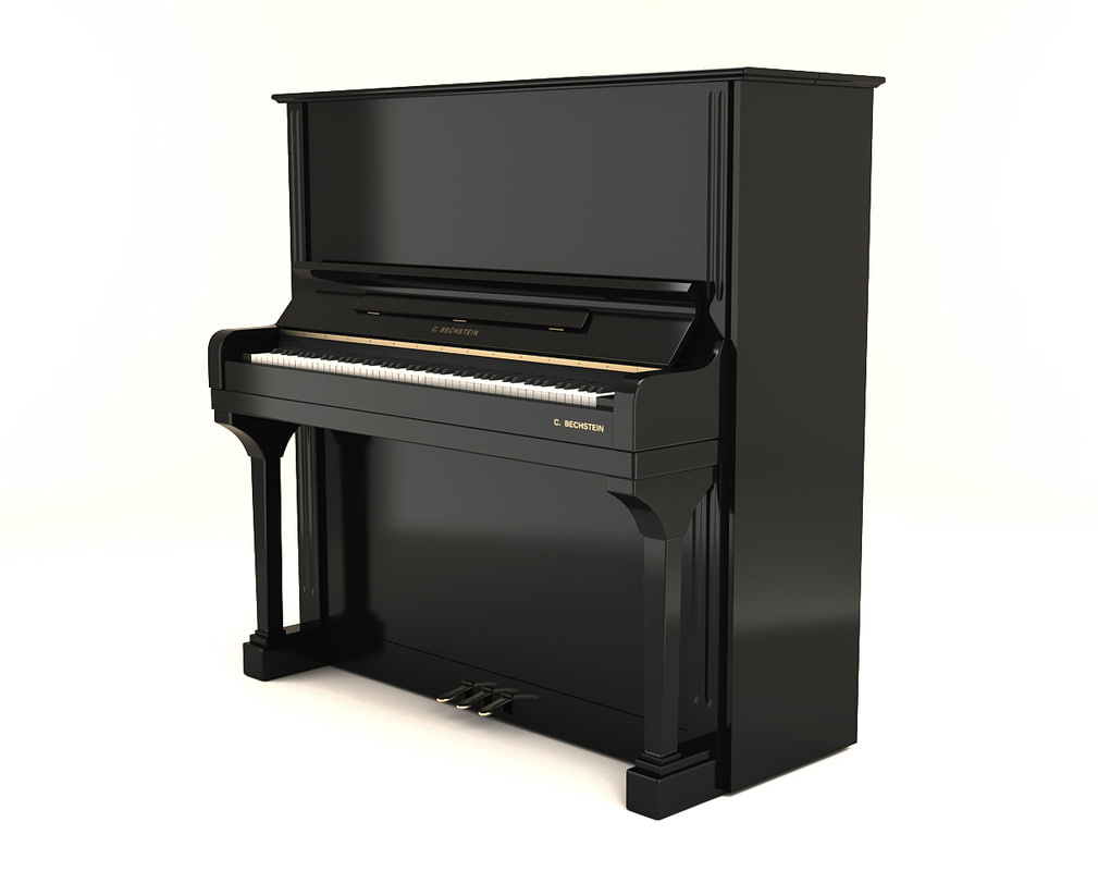 bechstein upright piano 3d max