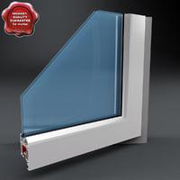 plastic window cutaway 3d obj
