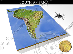 relief south america 3d model