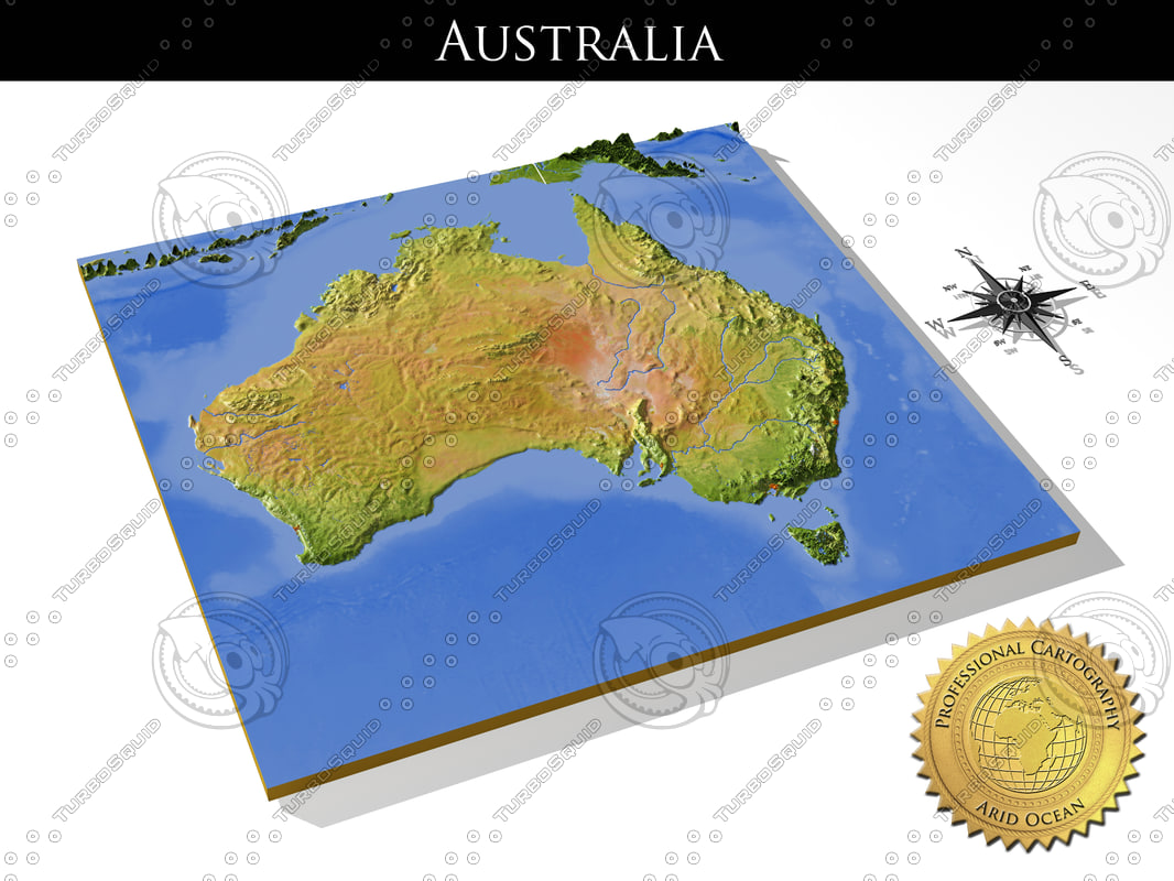 australia high resolution 3d relief maps