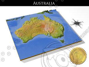 relief australia 3d model